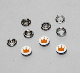 Кнопки 9,5 мм с крышкой Корона (уп 10 шт)