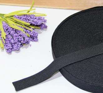 Тесьма эластичная (резинка) 2 см Черная